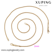 63875 Xuping style simple bijoux de mode ensembles plaqués or sans pierre
